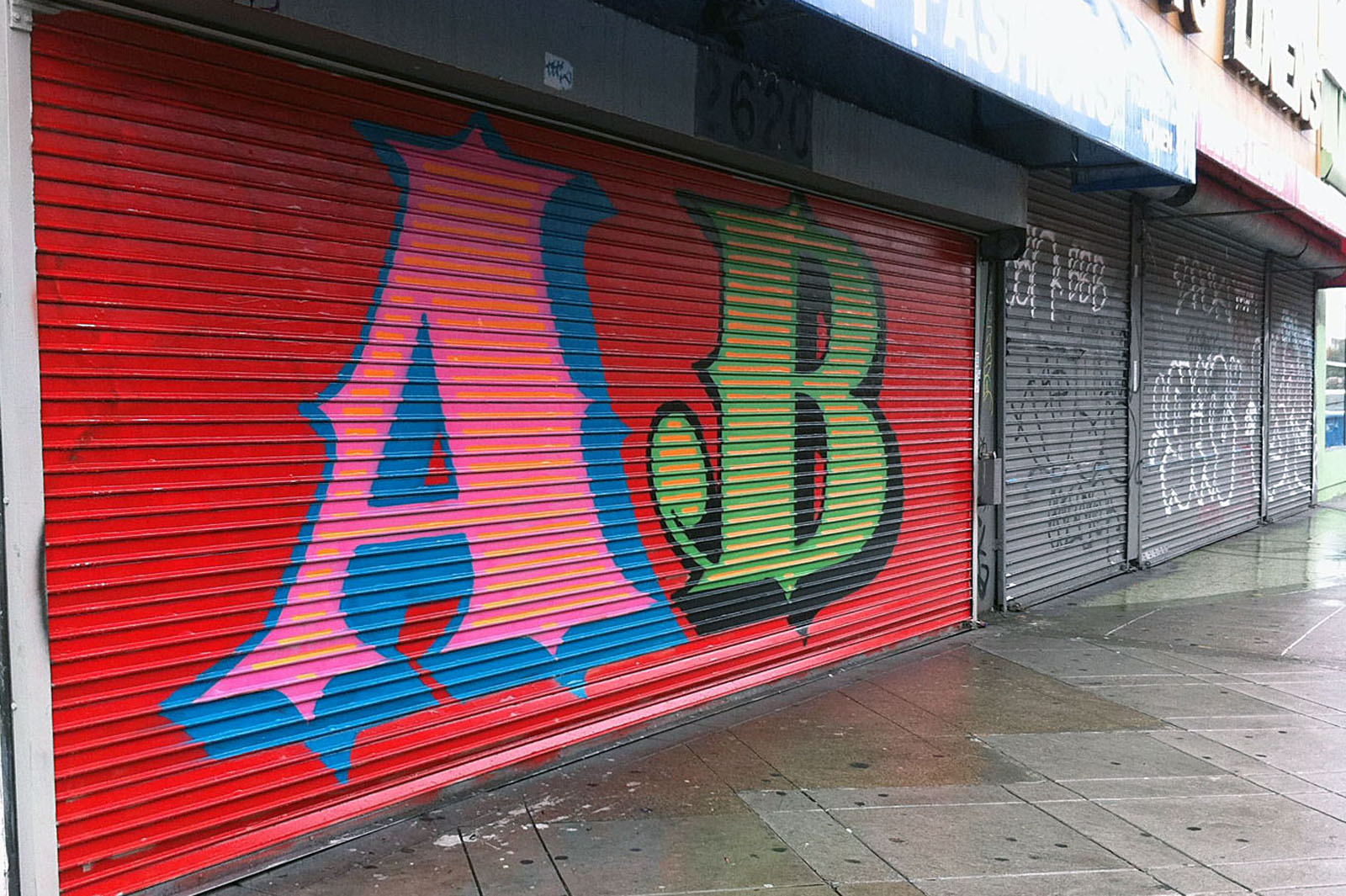 British Street Artist Letters the Mission
