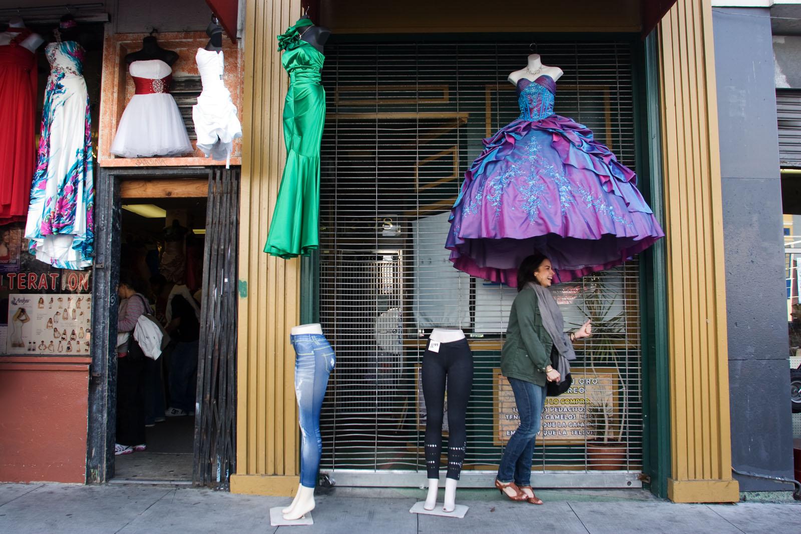 Cinderella Gown on Mission Street