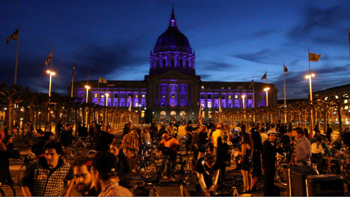 VIDEO: SF Bike Party!