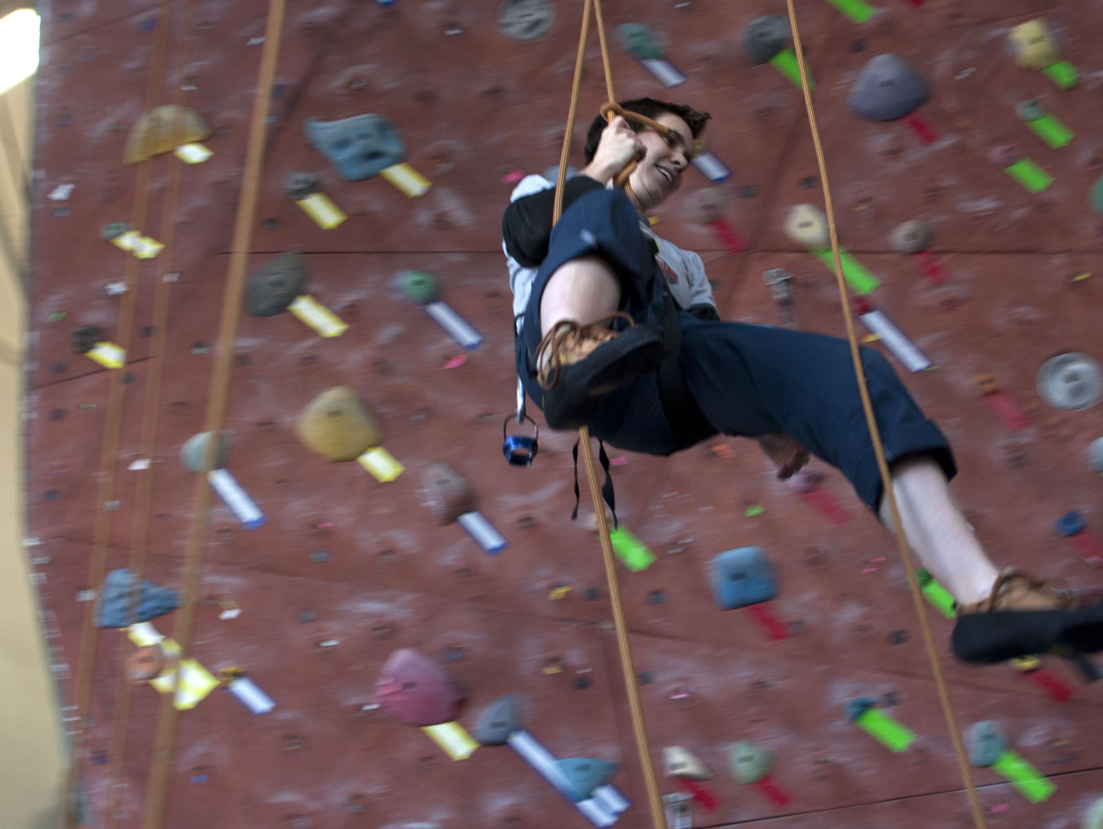 Roping and Swinging at Mission Cliffs
