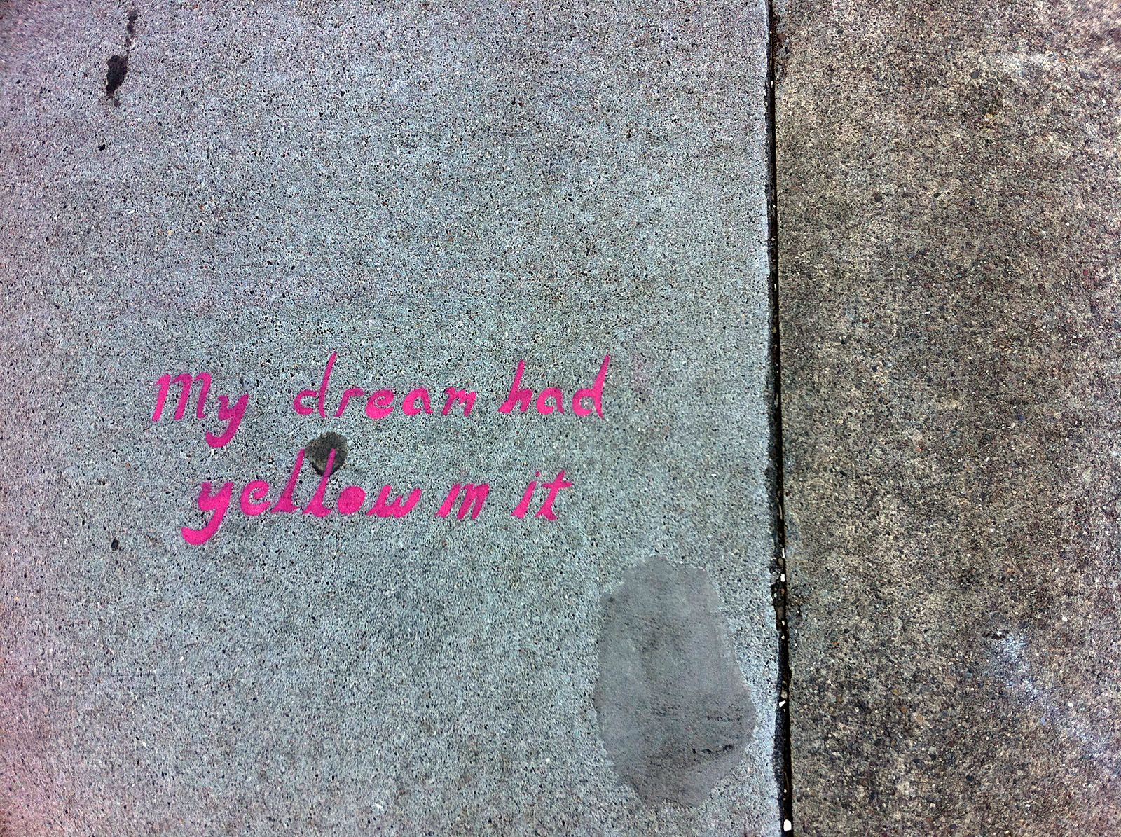 Remembering a Yellow Dream in Pink