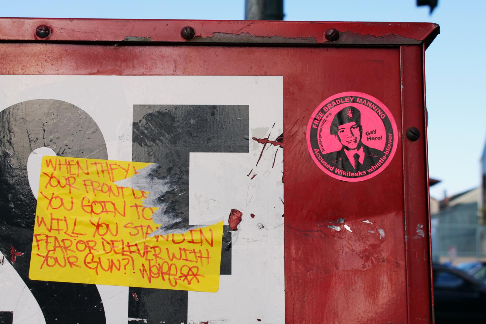 Bradley Manning, the Guns of Brixton