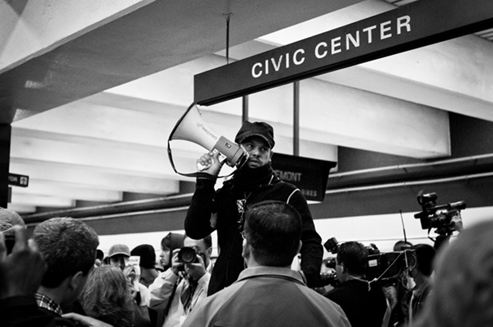 Scenes from the Civic Center BART Protest