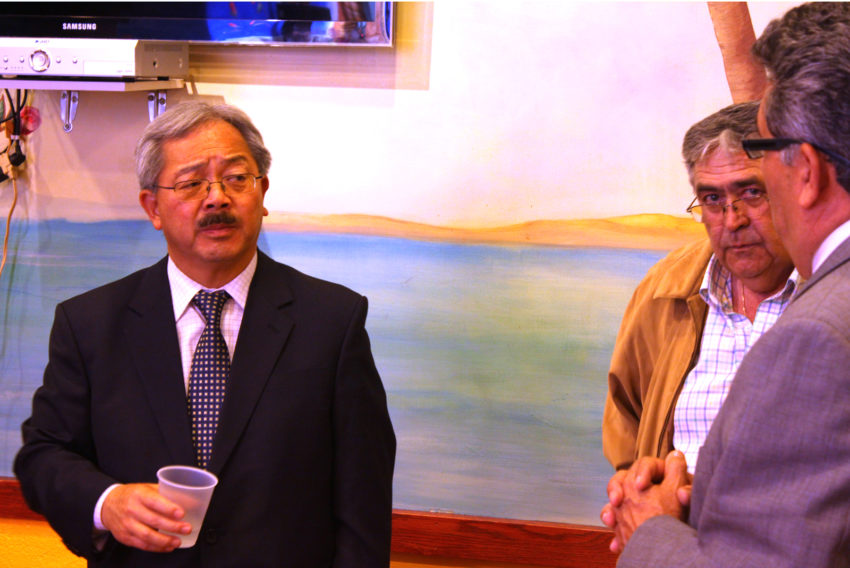 Mayor Ed Lee in the Mission District