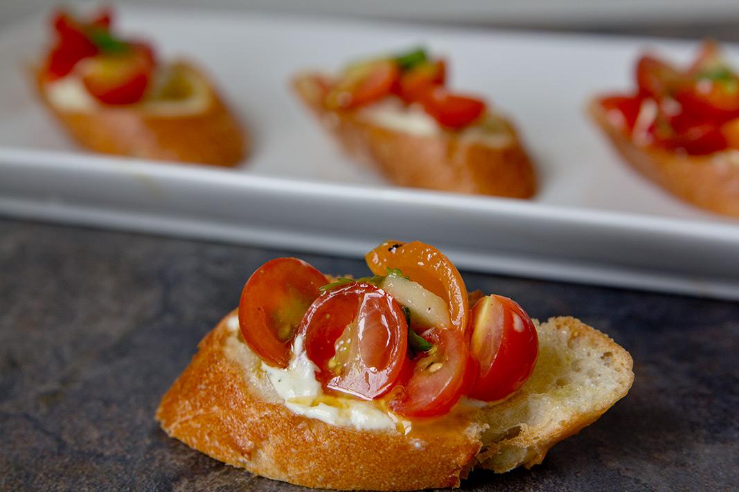Veganize It! Bruschetta With Spicy Vegan Cream Cheese