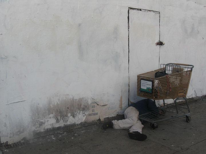 Sleeping on Mission Street