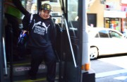 Kids taking off the MUNI bus on 24th