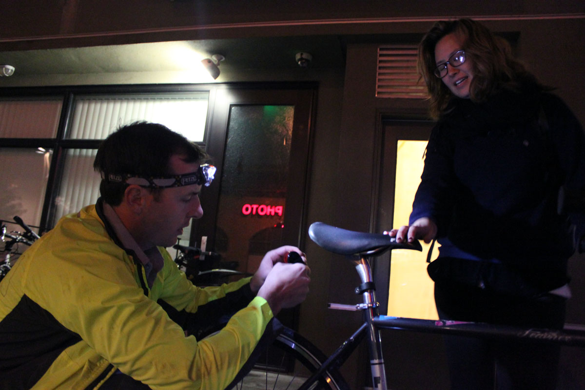 Bike Coalition Gives Lights to Mission Residents