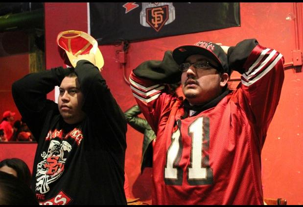 49ers Fans Watch as a Win Fumbles Away