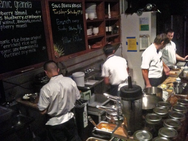 The Sous Beurre Kitchen busy making my dinner.