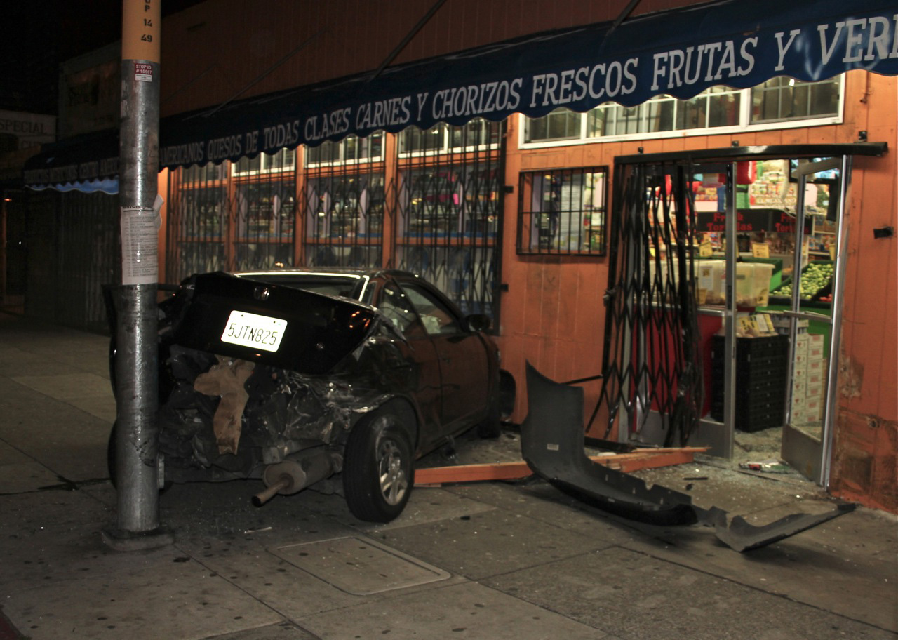 Car Slams Into Casa Guadalupe, Two Injured