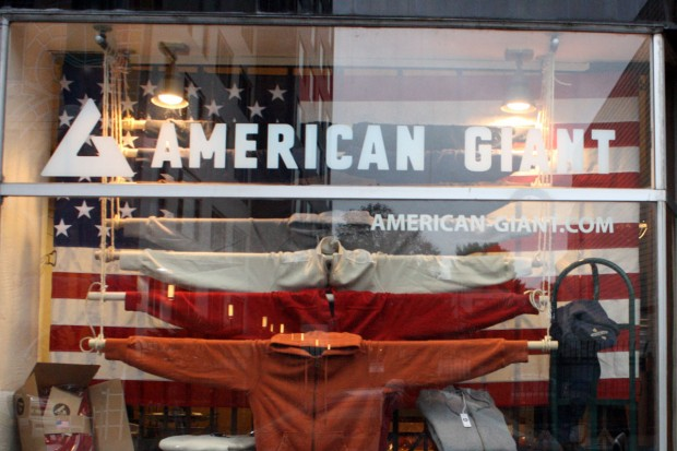 American Giant recently opened shop on 21st Street