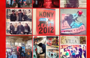 A screen shot of the You Tube video KONY 2012, which is extremely popular and extremely controversial.