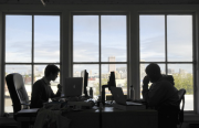 Posterous engineers at work in the company's Mission headquarters (file photo, May 2011).