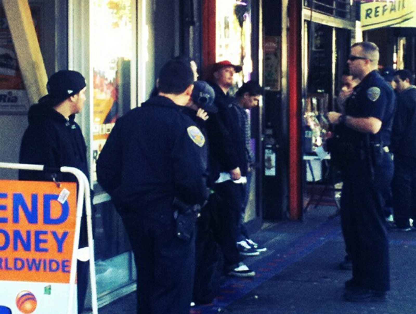 Seven Detained at 24th and Mission Streets