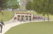 Rendering of Proposed South Restrooms Building