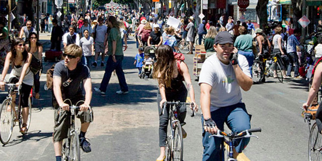 Car-free portions of Valencia Street? That's the plan.