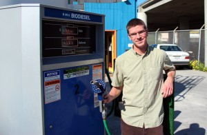 Andrew Pannell and gas pump