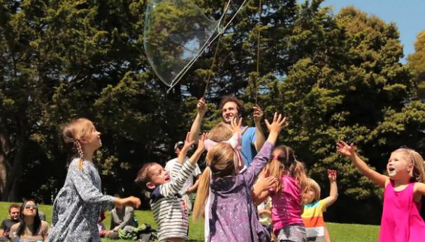 VIDEO: Bubbles Blanket Dolores Park