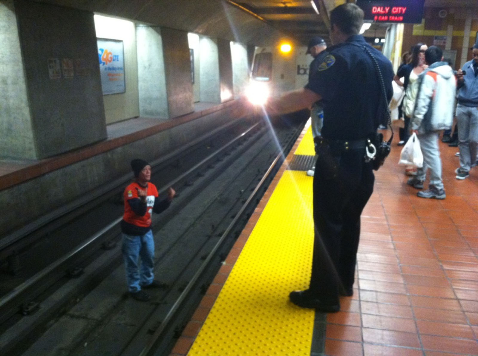 Man 'Occupies' 24th Street BART Tracks Just as Train Approaches, Is Almost Hit