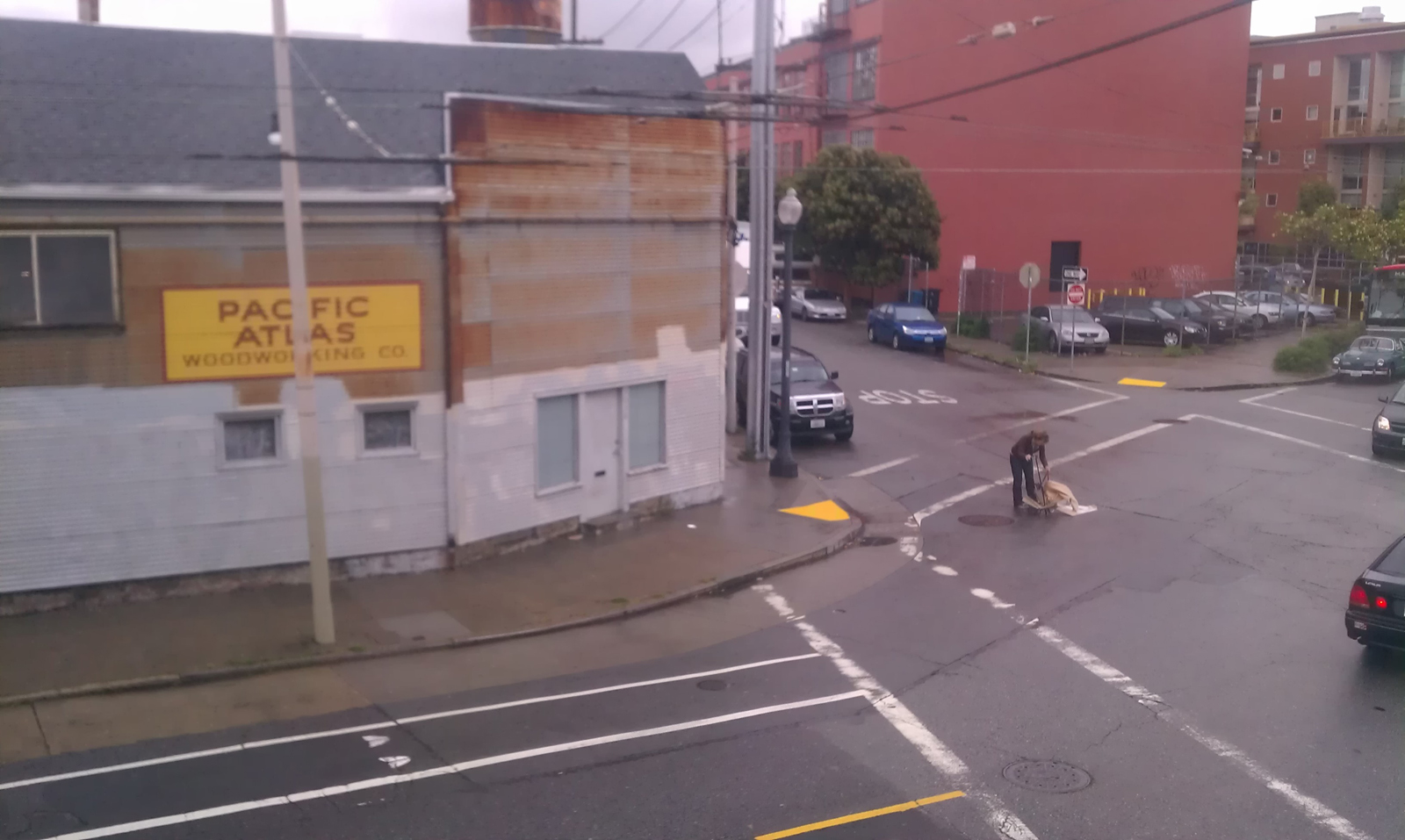 Pedestrian's Pushcart Hit by Driver