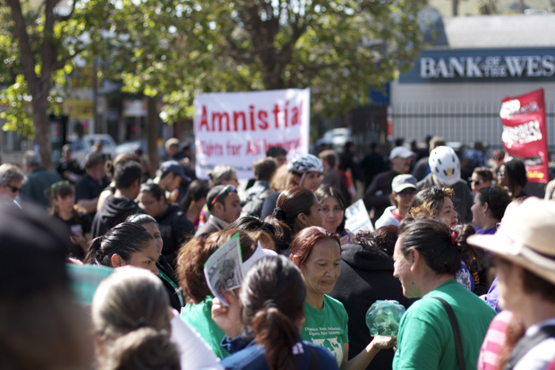 PHOTOS: Protesters March for Immigrants' Rights