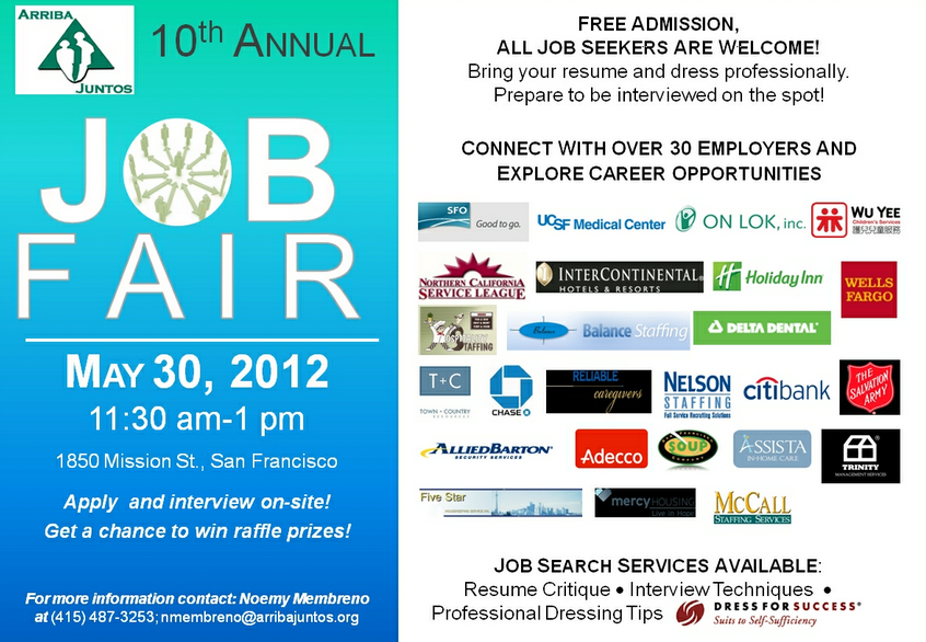 Job Fair Today, 11:30 to 1