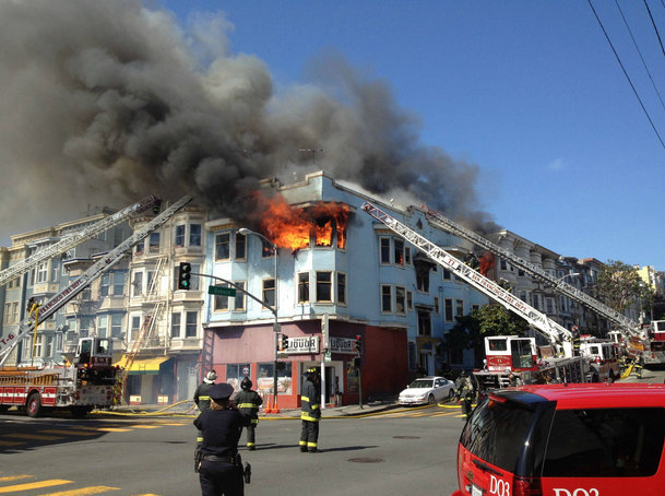 Four-Alarm Fire at Valencia and Duboce Sends Six to Hospital