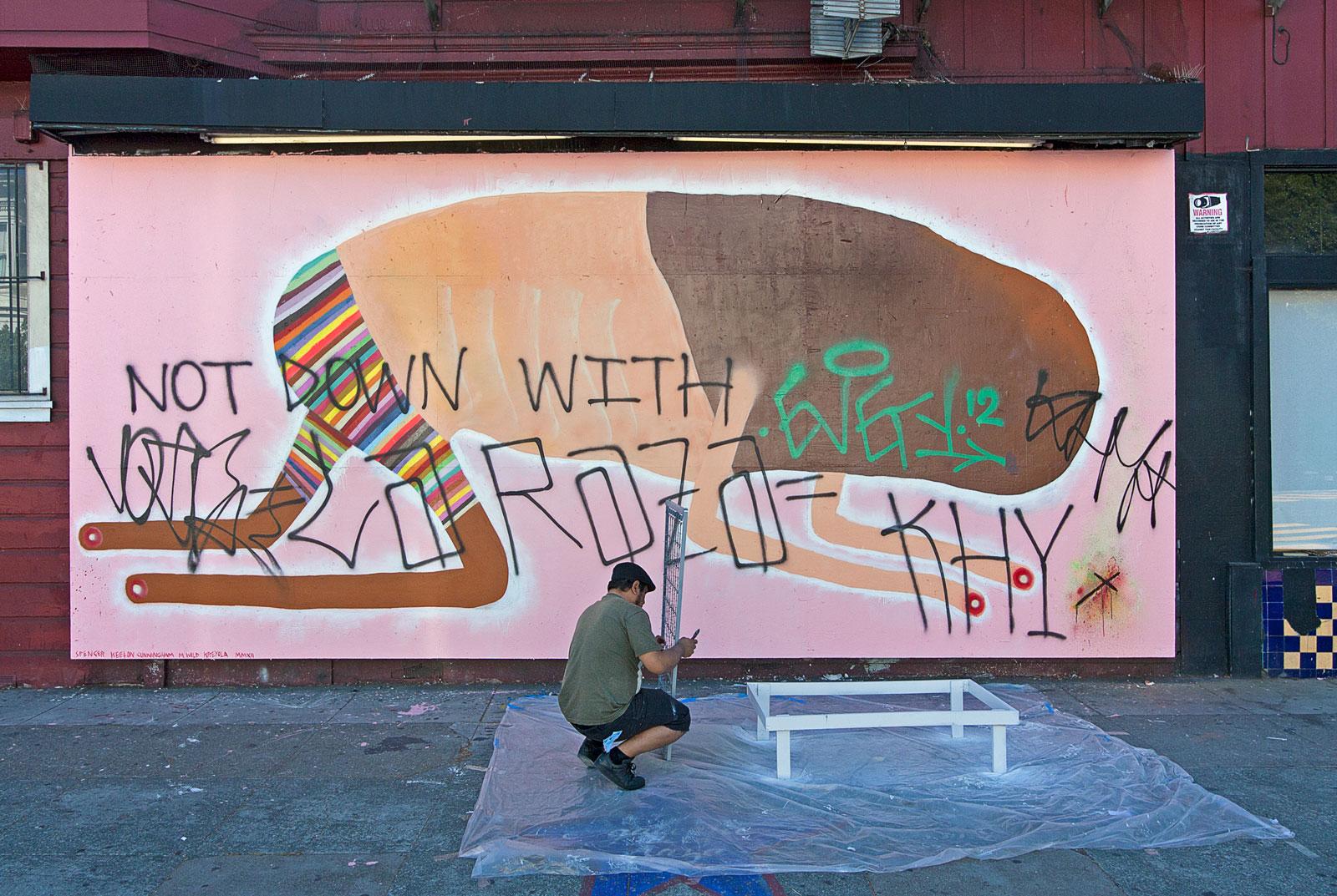 Galería de la Raza Mural Defaced