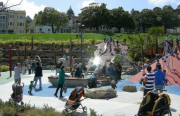 The Helen Diller playground in Dolores Park was vandalized just days after opening in April