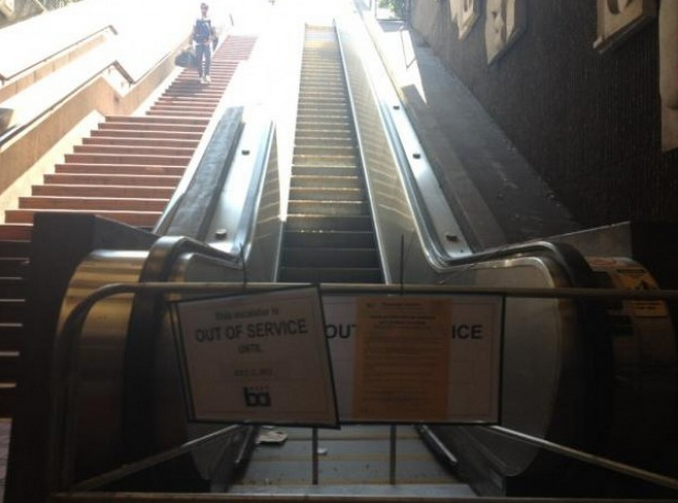 Broken BART Escalator: Blame it on a Sensor