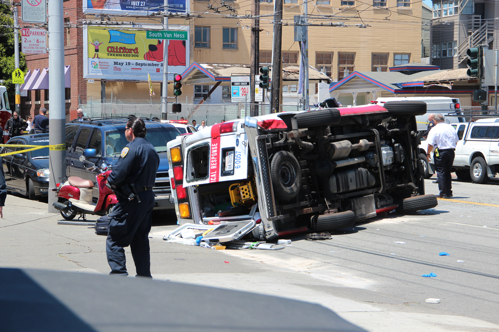 Ambulance, Car Collide on 16th and S. Van Ness