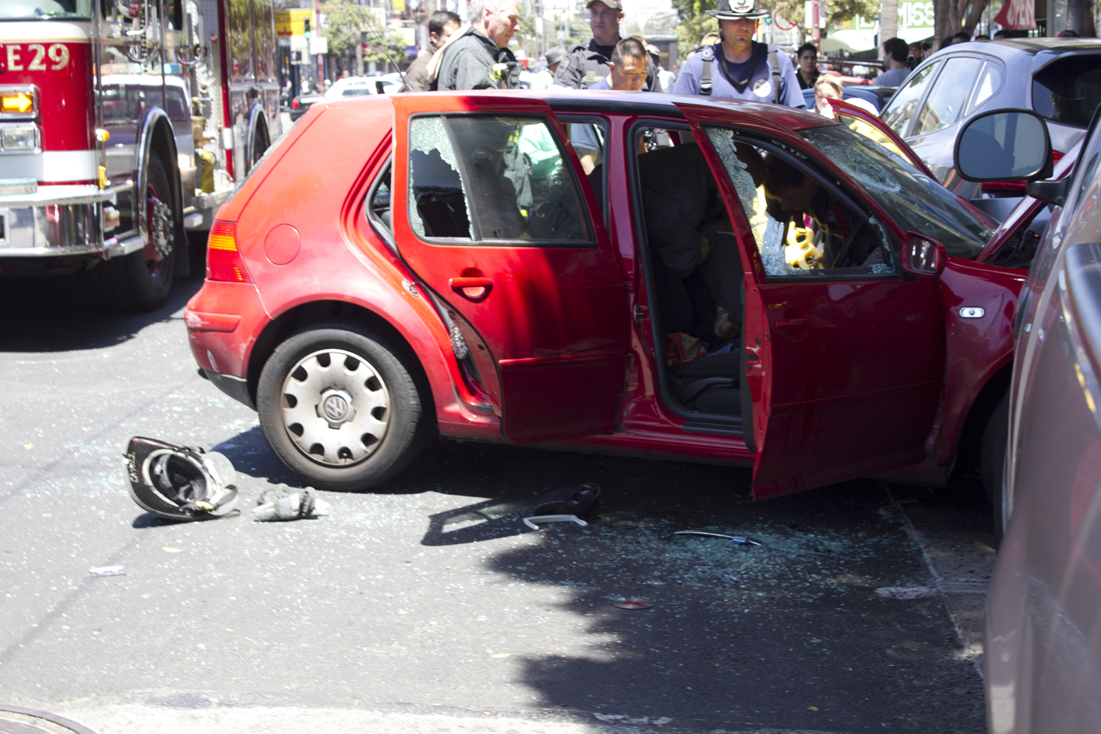 Car Crashes Into Parked Cars on Mission and 17th