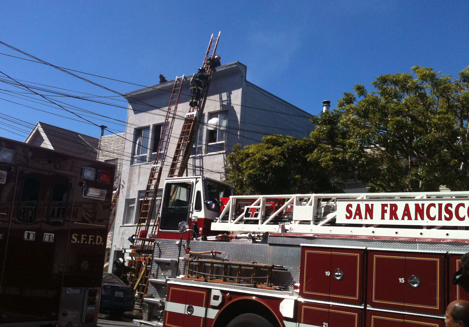 Two-Alarm Fire in Noe Valley