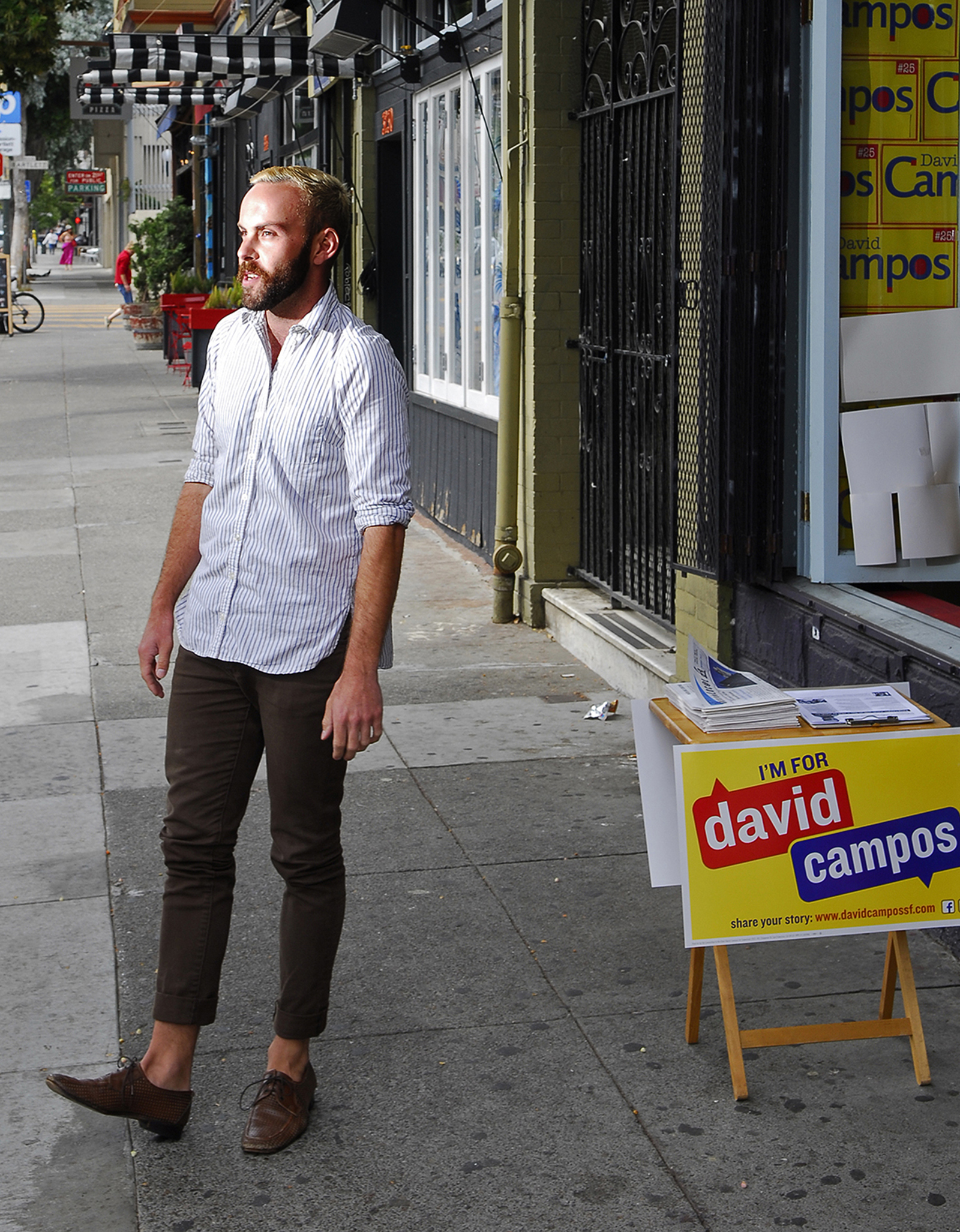 Tom Temprano at district 9 Supervisor David Campos' campaign headquarters. Photo by Sean Havey.