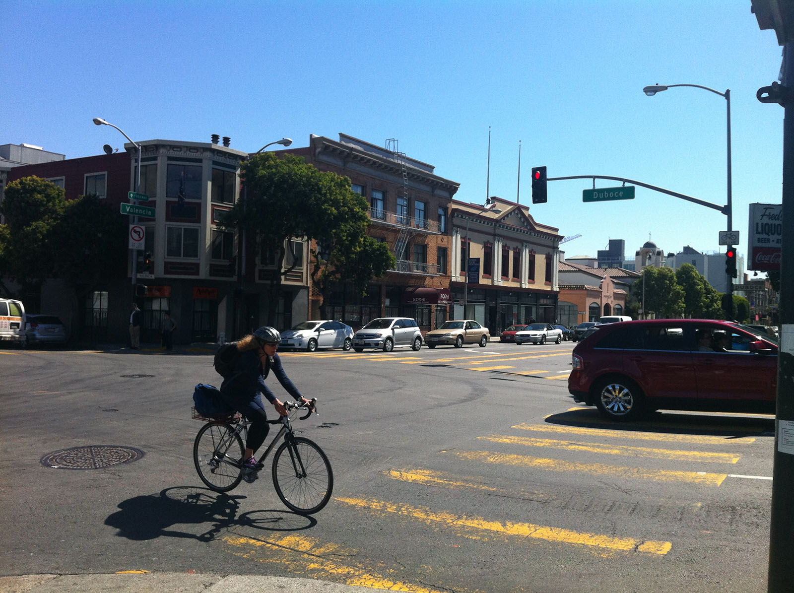 The intersection of Duboce Avenue and Valencia Street ranks fifth in the Highest Injury Collisions Intersections for San Francisco between 2009 and 2011.