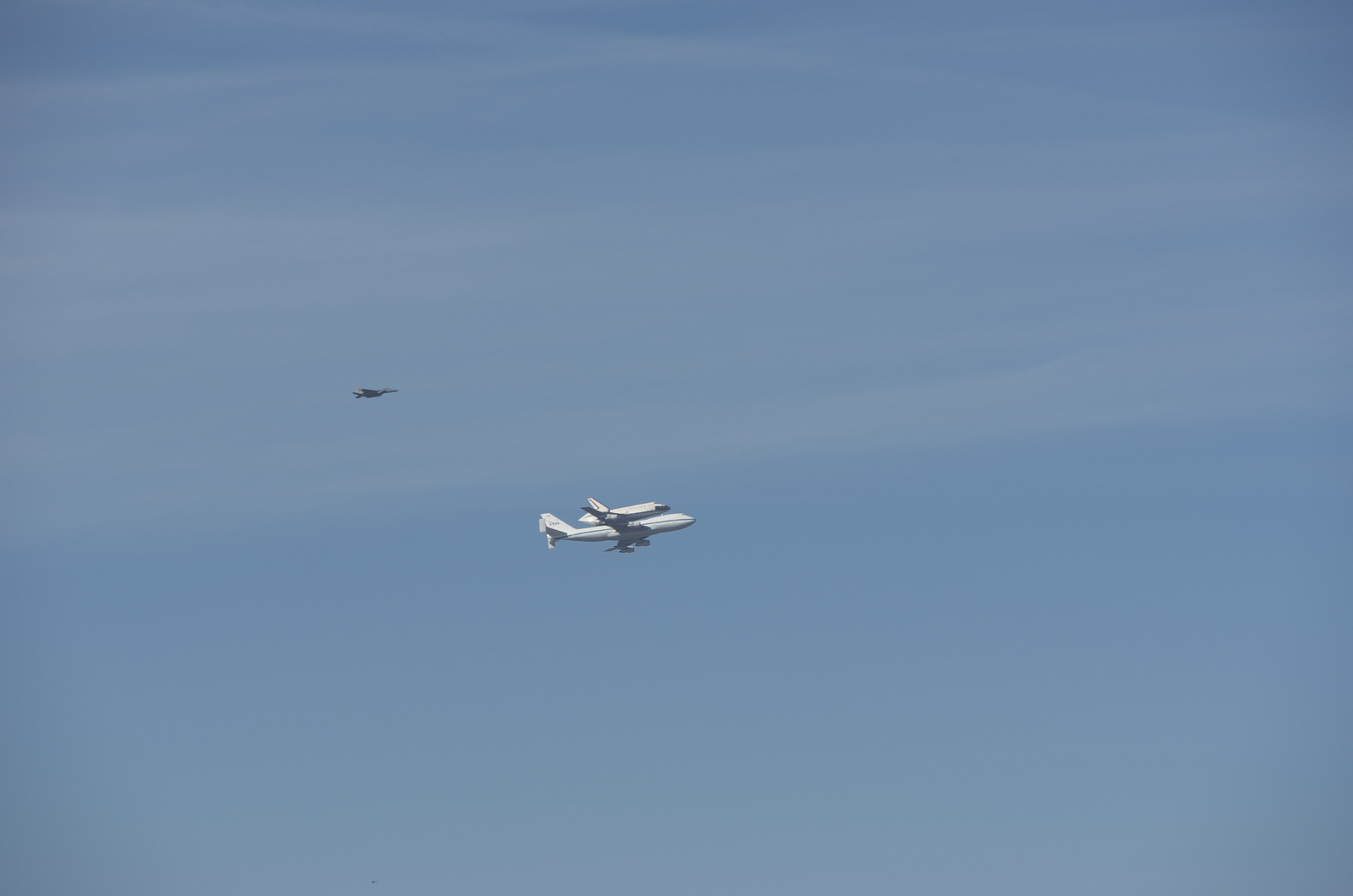 Endeavour Space Shuttle Flies By