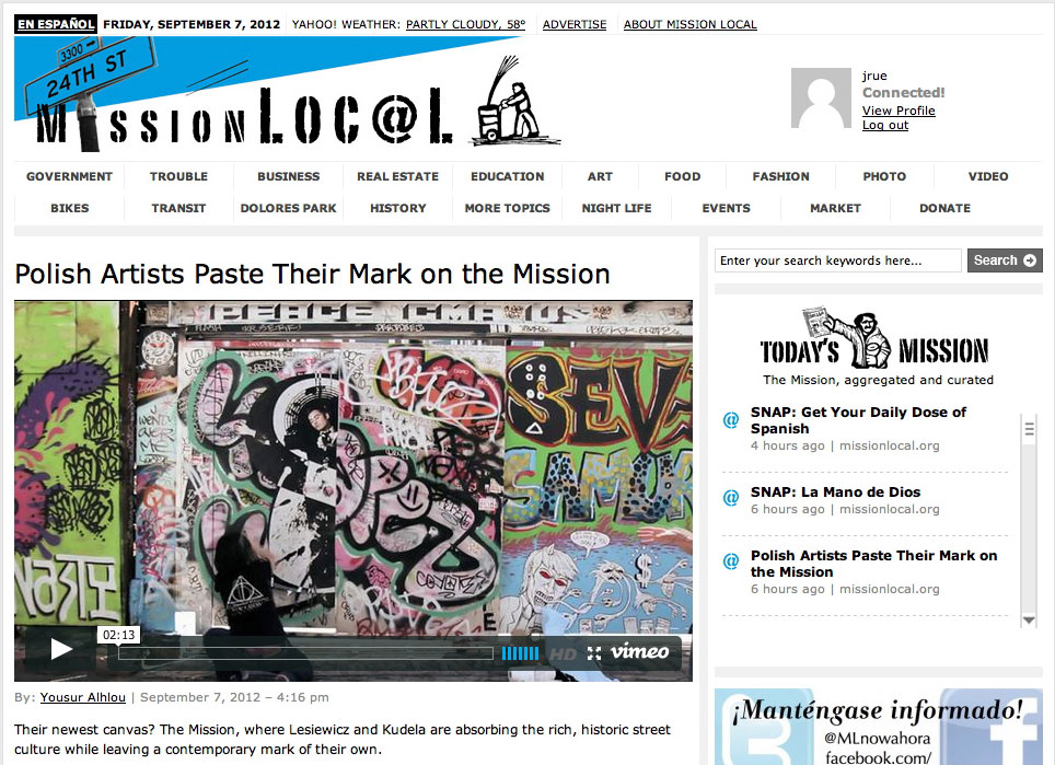 MissionLocal saw a design upgrade a year after launching.