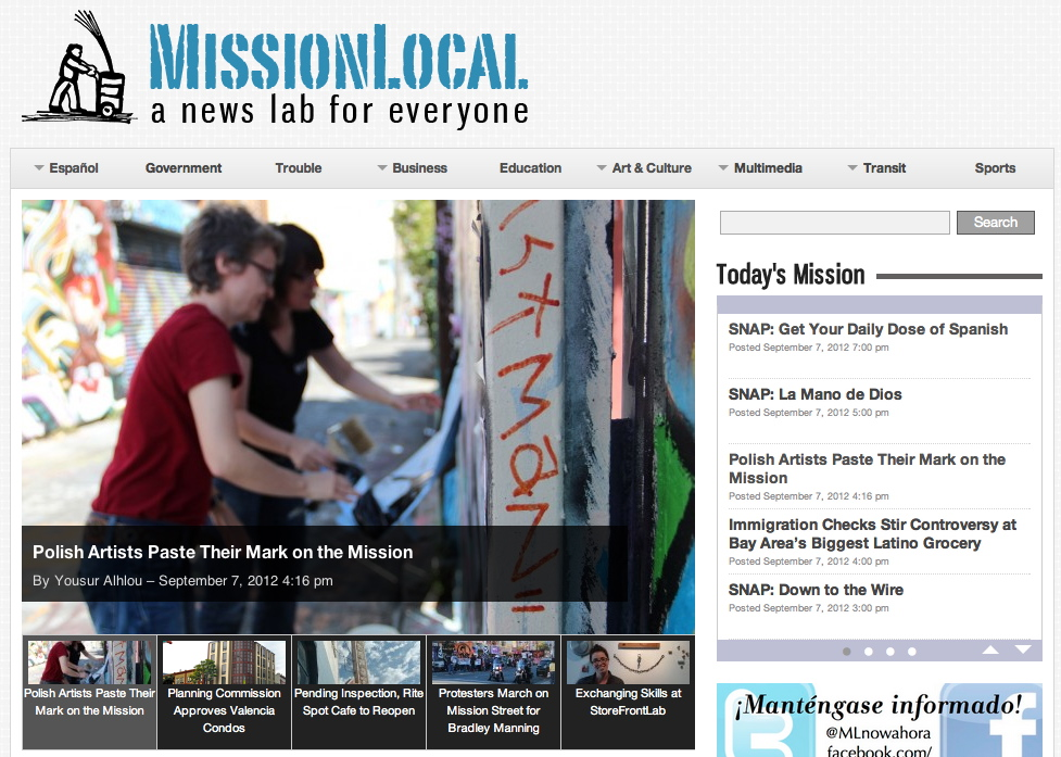 The new design for MissionLocal