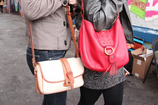 One-shouldered purses were all the rage at Clarion Alley.