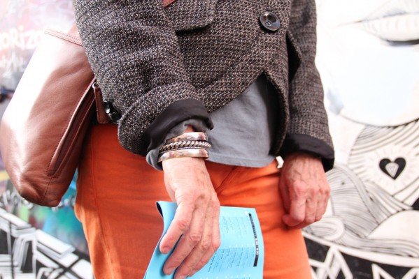 LitCrawl attendees showed off their fall style with stacked bangles and colorful denim.