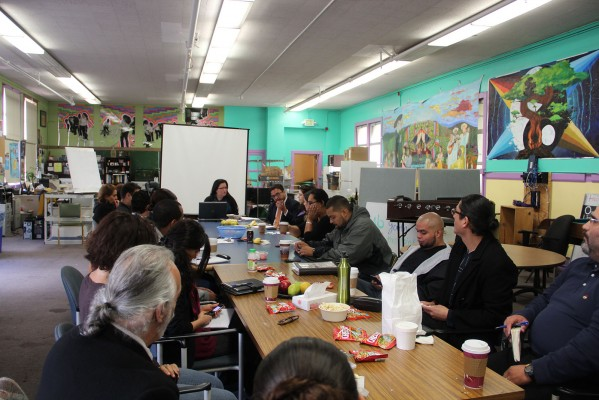 Various community leaders, including District 9 Supervisor David Campos, gathered Thursday afternoon to discuss community strategies.