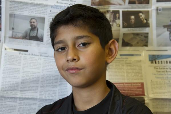 7th grade student Abner Cruz.