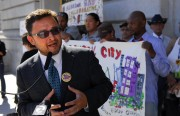 District Nine Supervisor, David Campos, spoke outside City Hall on Thursday in support of new legislation that would help reform the city's Department of Public Health policy in regards to bedbugs.