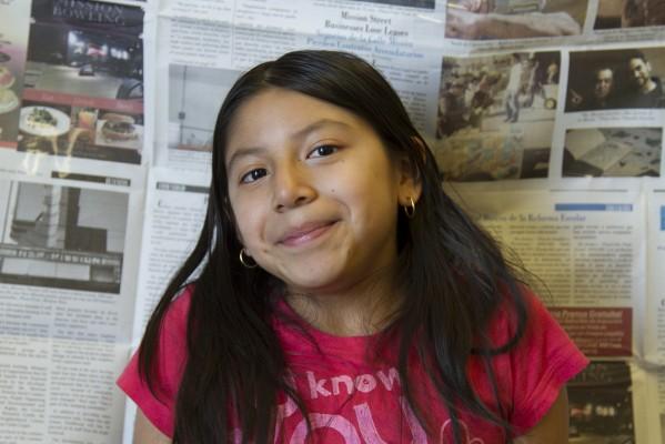 6th grade student Diana Barbosa.
