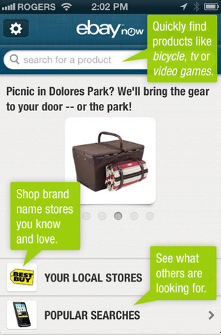 eBay Now offers to bring a picnic to you in Dolores Park. What they won't deliver is a parking space near Dolores Park.