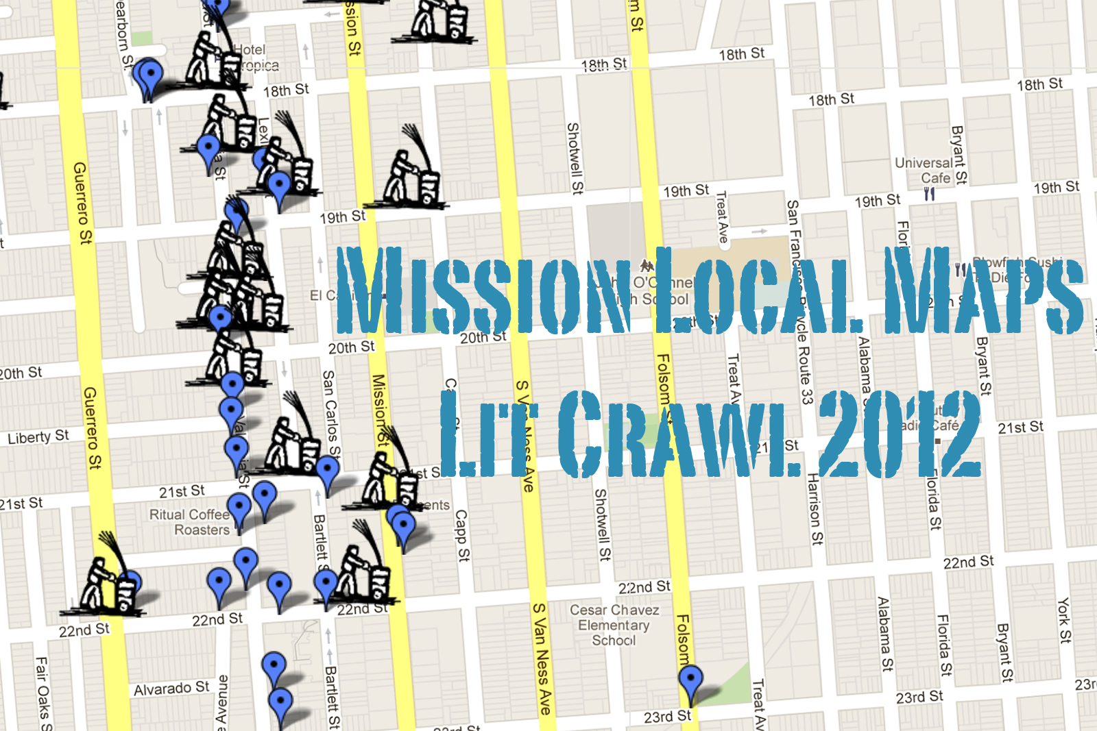 Have Map, Will Crawl: Mission Local's Lit Crawl 2012 Map