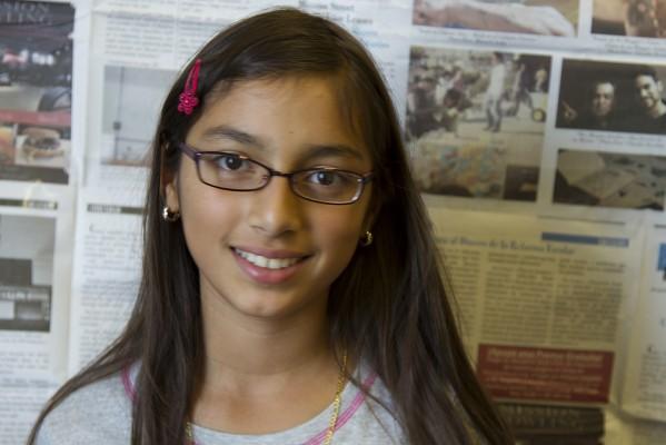 6th grade student Marilyn Navarrete.