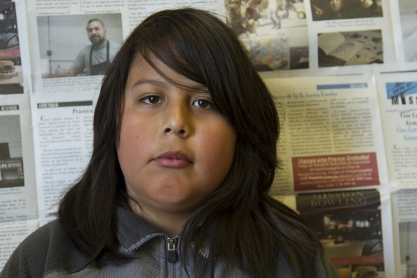 7th grade student Pedro Ramos.