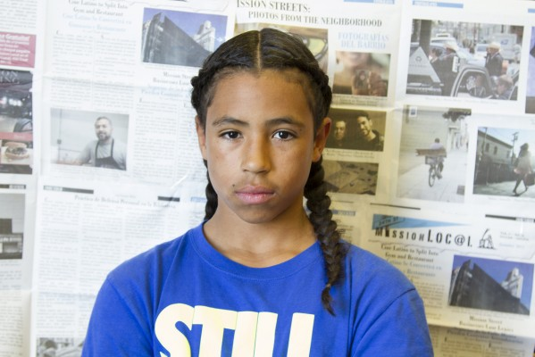 7th grade student Rashawn Williams.